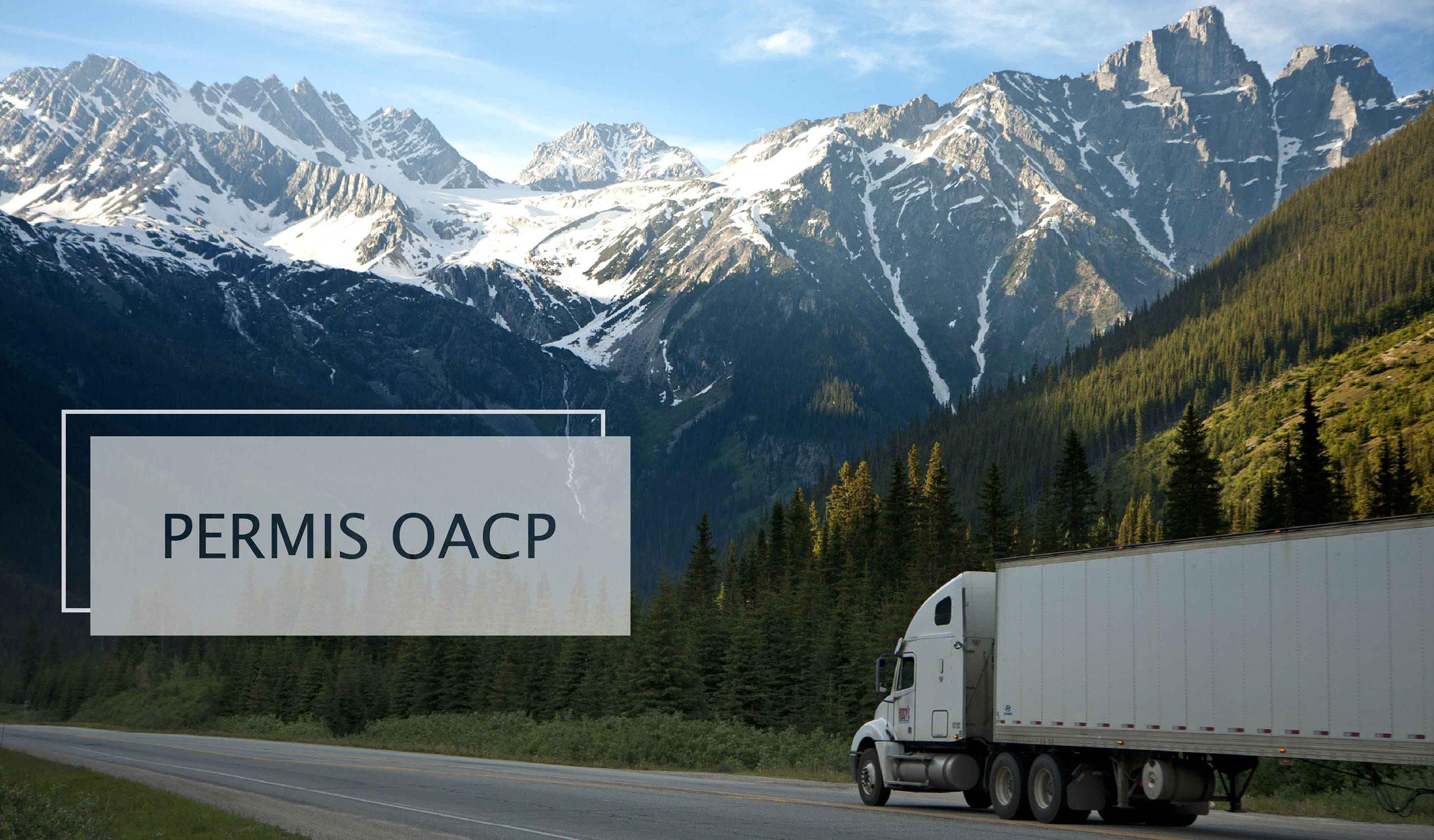 Camion blanc roulant près des montagnes